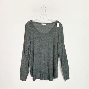 Madewell charcoal grey pullover sweater medium